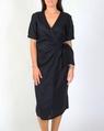 TIa wrap linen dress midnight A