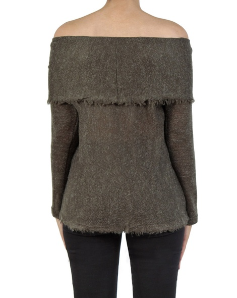Olivia knit khaki back copy