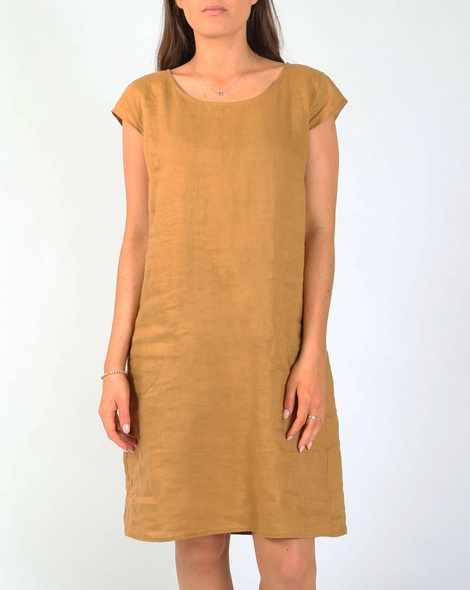 Bronte dress camel A