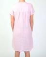 Linen cap sleeve dress pink B