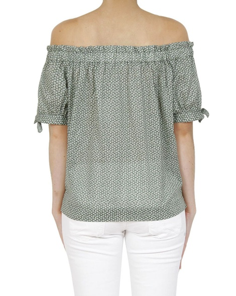 Floral polly top green B copy