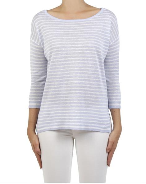 Simple stripe pullover lavender front copy
