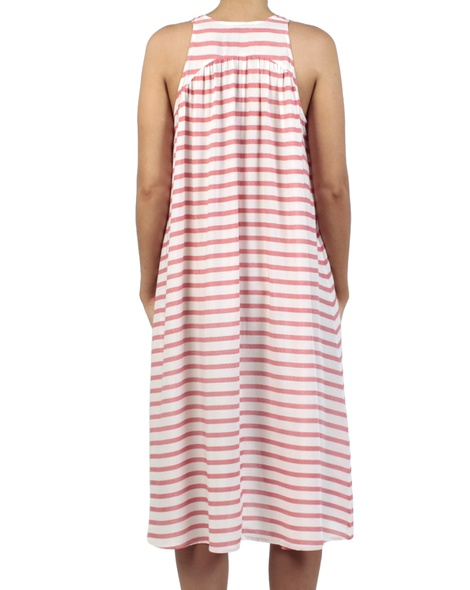 Stripey Abby dress red back
