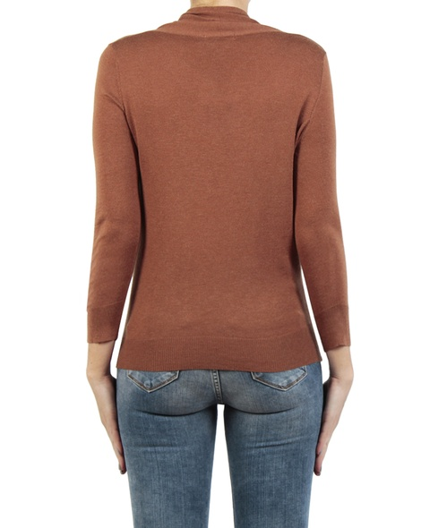 Carrie Wrap Knit tobacco back copy