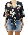 Ruby Floral Black A