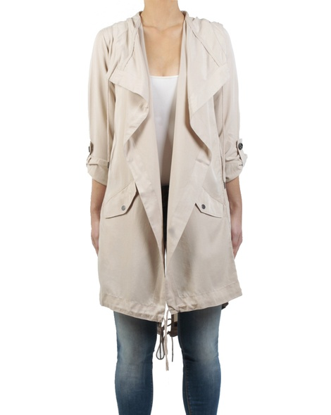 Ollie jacket stone front sleeves