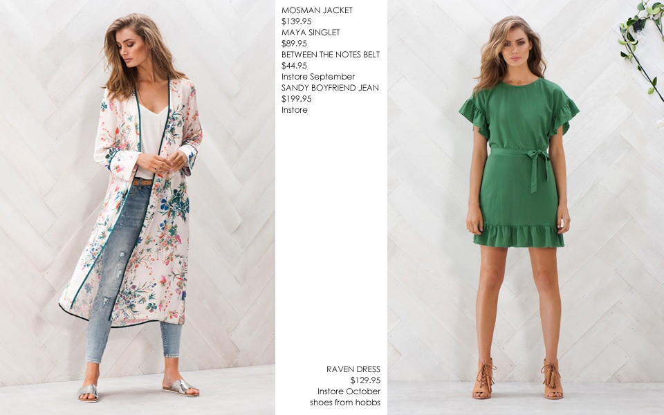 MOSMAN JACKET & RAVEN DRESS price change