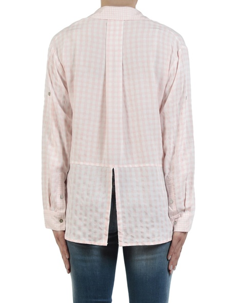Gingham multi shirt pale pink back copy