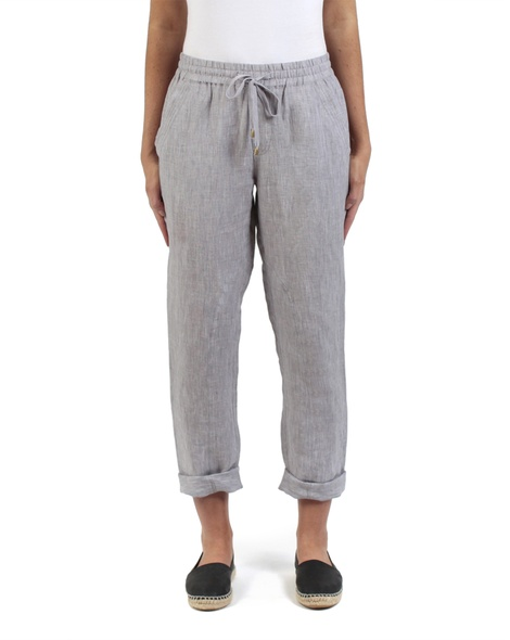 Elliot crosshatch pant silver front rolled copy