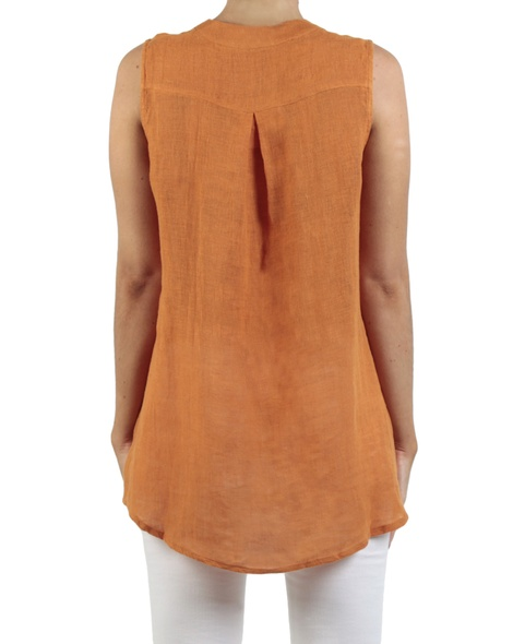 Santina Gauze top orange back copy