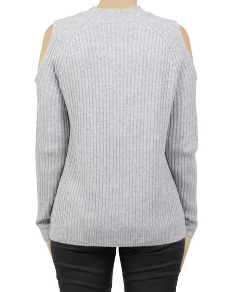 cold shoulder pullover silver B