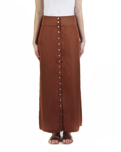 Cherise skirt tobacco front
