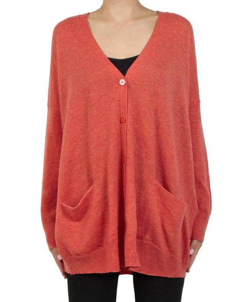 Cara cardigan rust front copy