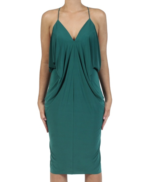 Hayden Dress emerald front