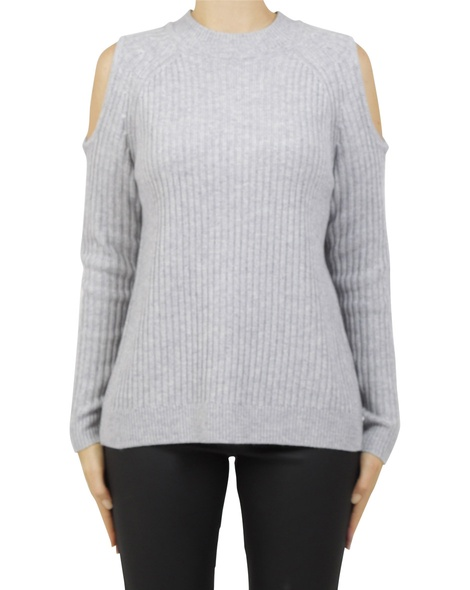 cold shoulder pullover silver A