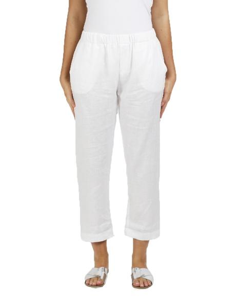 lottie linen pant white A
