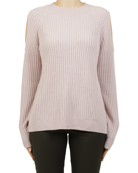 Cold sholder pullover pink A