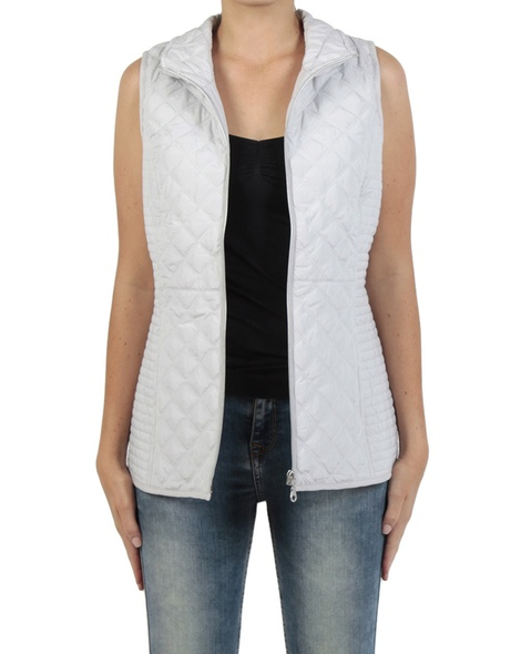 Sport Luxe Puffer Vest silver front