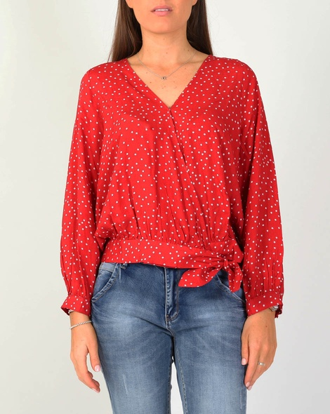 Odyssea wrap top red A