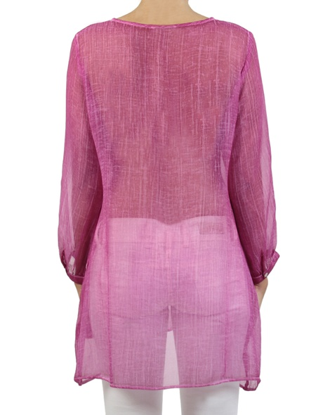 Ophelia Kaftan hot pink back copy