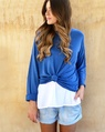 Linen boatneck knit royal + cat singlet under  (7)