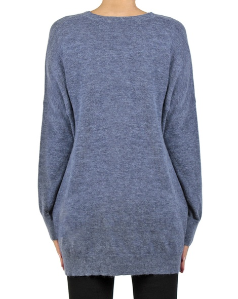 Cara cardigan denim back copy