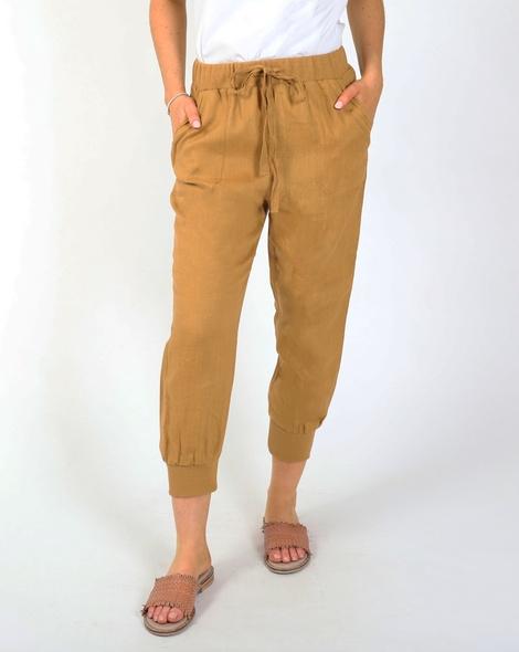 Thea jogger pant camel A