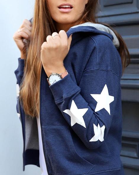 Star hoodie navy (25)