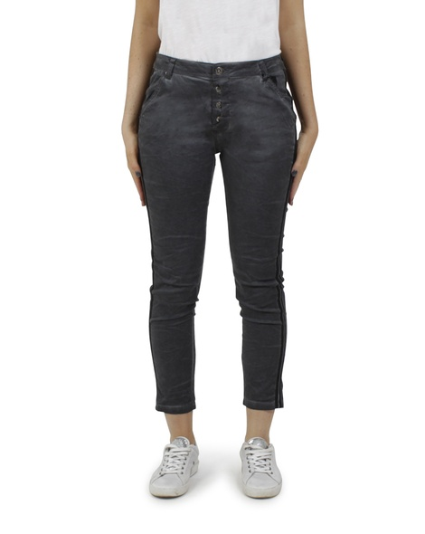 Ivy stripe jeans charcoal A