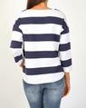 Stripe pullover navy B