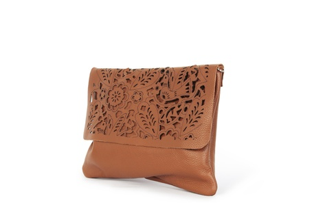 flower handbag tan B