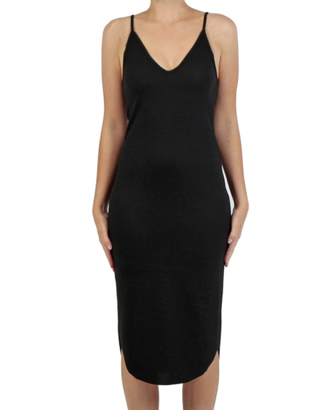 Siri rib dress black front copy
