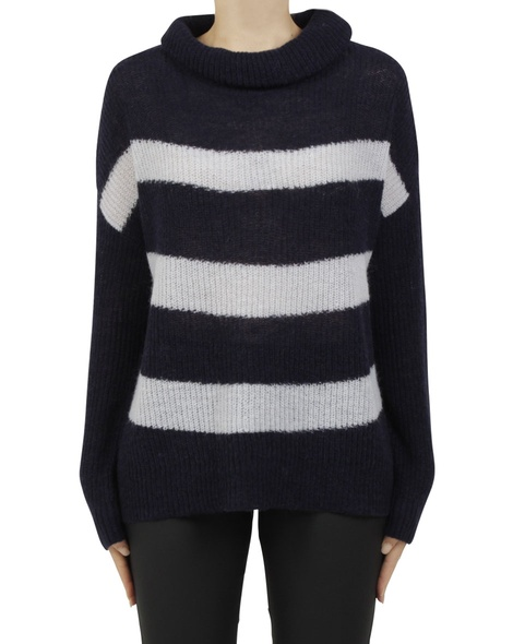 paide stripey knit charcoal A