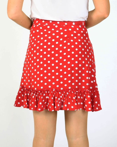 Spotty melita skirt red B
