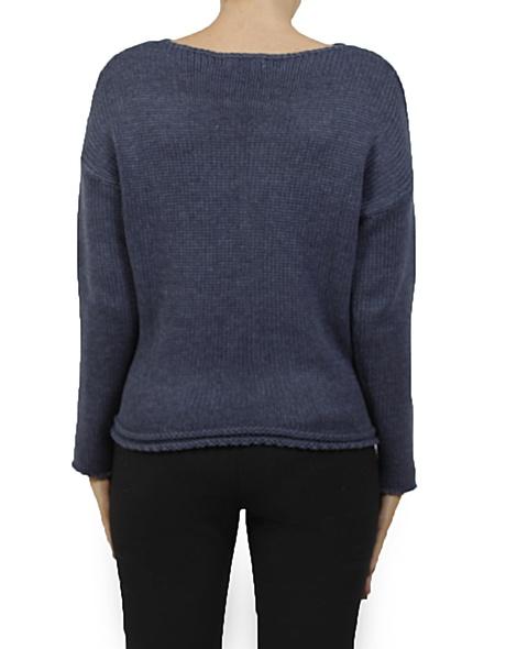 Astrip knit navy new B