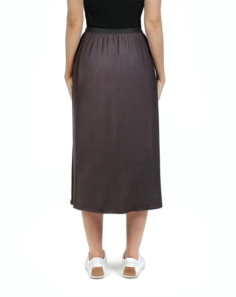 Miri midi skirt charcoal back copy