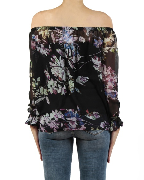 Wisteria top black back