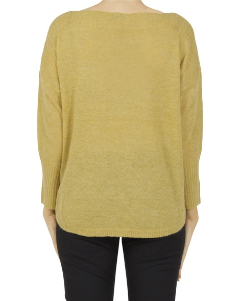 Boat neck crop mustard B