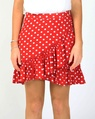 Spotty melita skirt red A