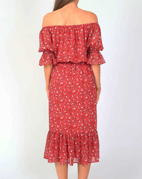 Leah Dress red B