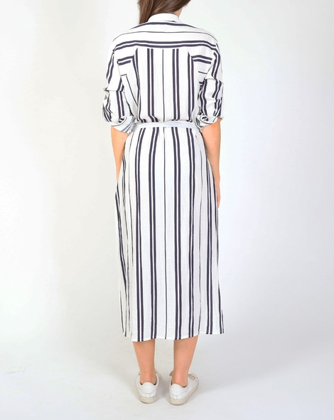 Stripey shirt dress navy B