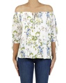 Floral milly top white A