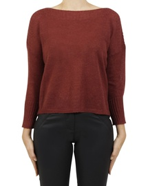 Boat Neck Crop Pullover