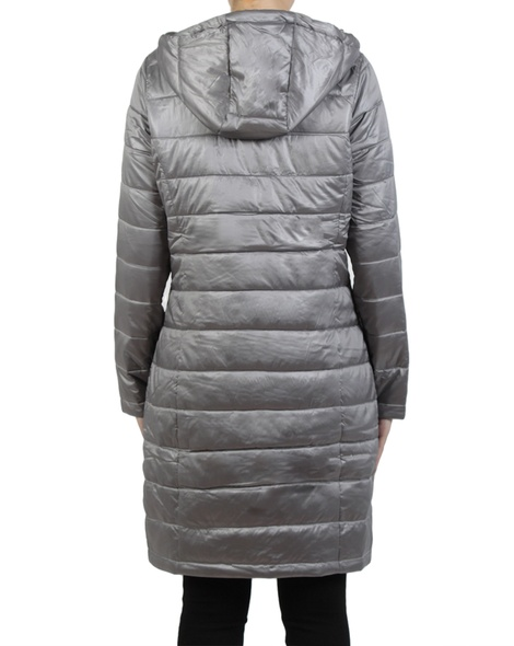 Galaxy puffer jacket grey silver back copy