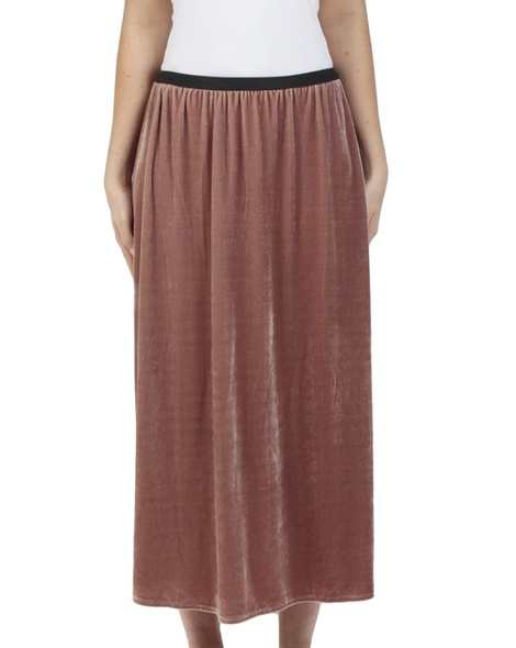 Velvet Midi skirt Blossom front copy