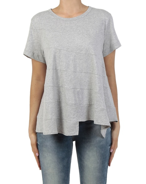 Stirred Tee grey front jean