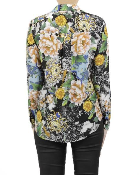 Oriental bloom silk shirt B