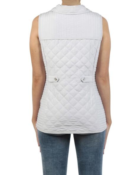 Sport Luxe Puffer Vest silver back