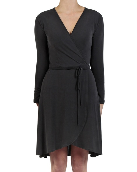 Beckham Wrap Dress black front copy