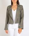 Linen biker jacket sage A